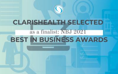 ClarisHealth a Winner of NBJ 2021 Best in Business Awards